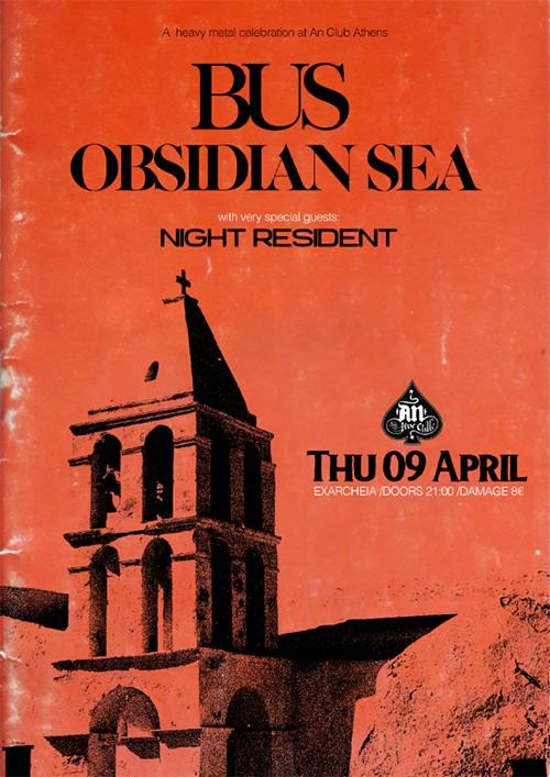 Bus, Obsidian Sea, Night Resident Αθήνα @ AN Club