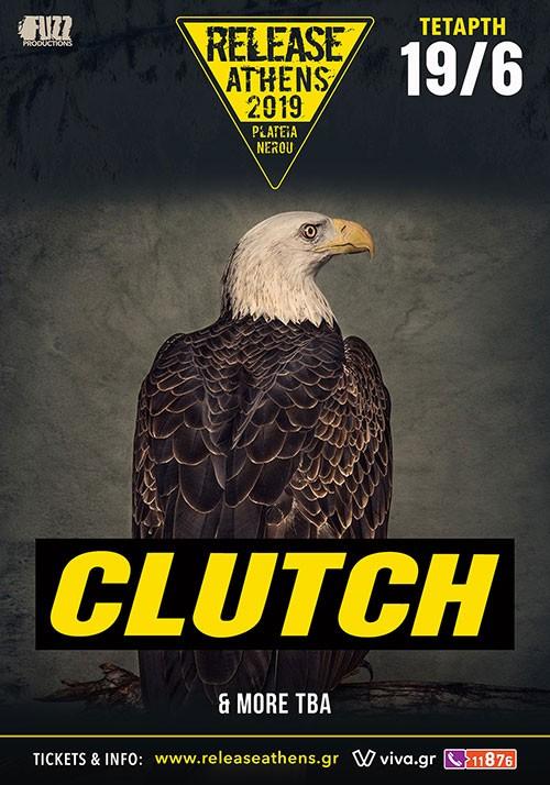 Release Athens Festival: Clutch, Black Rebel Motorcycle Club, Planet Of Zeus, Godsleep, Whereswilder Αθήνα @ Πλατεία Νερού, Ολυμπιακός Πόλος Φαλήρου
