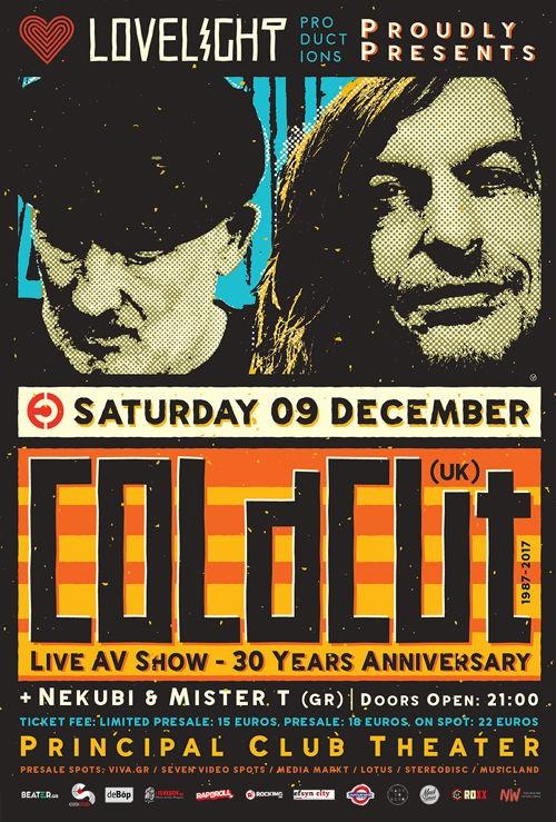 Coldcut, Nekubi Tapes, MisterT Θεσσαλονίκη @ Principal Club Theater