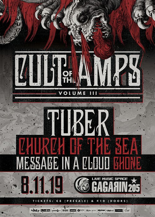 Cult Of The Amps: Tuber, Church Of The Sea, Message In A Cloud, Ghone Αθήνα @ Gagarin 205