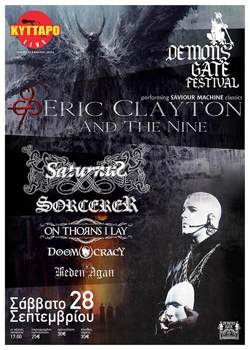 Demons Gate Festival: Eric Clayton And The Nine, Saturnus, Sorcerer, On Thorns I Lay, Doomocracy, Meden Agan Αθήνα @ Κύτταρο