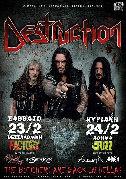 Destruction, Acid Death, Amken Αθήνα @ Fuzz Club