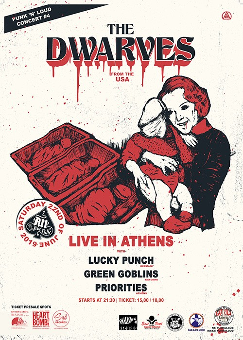 The Dwarves, The Lucky Punch, Green Goblins, The Priorities Αθήνα @ AN Club