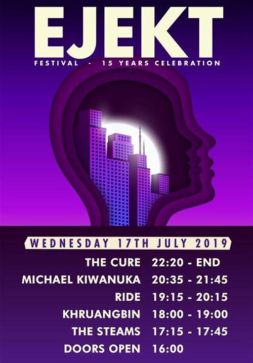 Ejekt Festival: The Cure, Michael Kiwanuka, The Ride, Khruangbin, The Steams Αθήνα @ Πλατεία Νερού, Ολυμπιακός Πόλος Φαλήρου