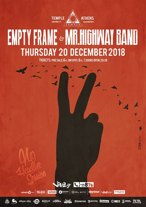 Empty Frame, Mr. Highway Band Αθήνα @ Temple Athens