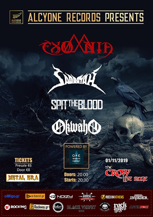 Exomnia, Saddayah, Spit The Blood, Okwaho Αθήνα @ The Crow