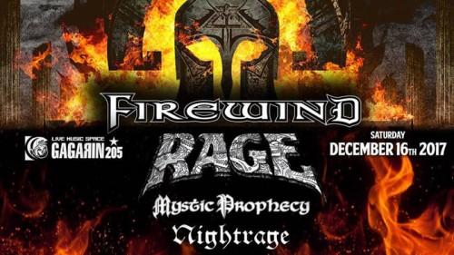 Firewind, Rage, Mystic Prophecy, Nightrage Αθήνα @ Gagarin 205