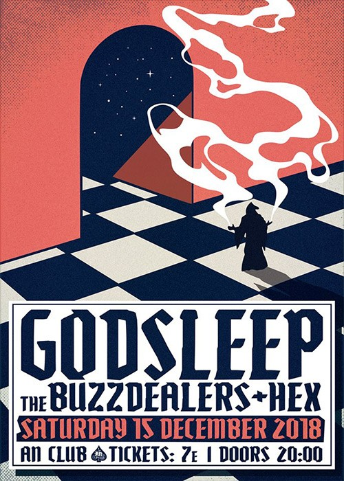 Godsleep, The BuzzDealers, Hex Αθήνα @ AN Club