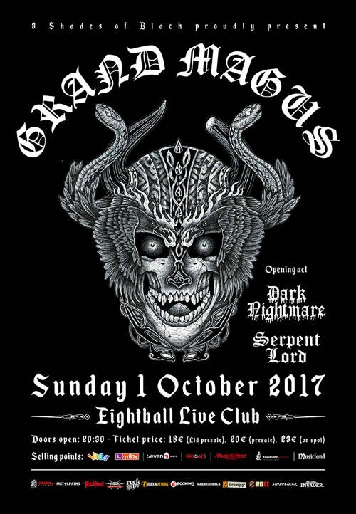 Grand Magus, Dark Nightmare, Serpent Lord Θεσσαλονίκη @ Eightball