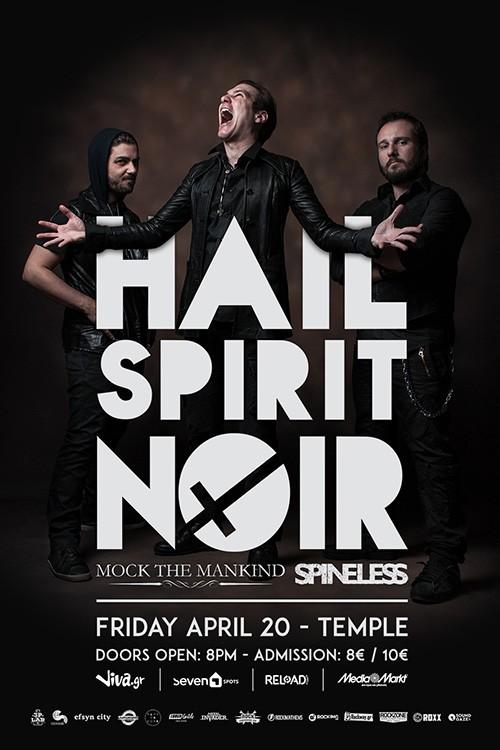 Hail Spirit Noir, Mock The Mankind, Spineless Αθήνα @ Temple Athens