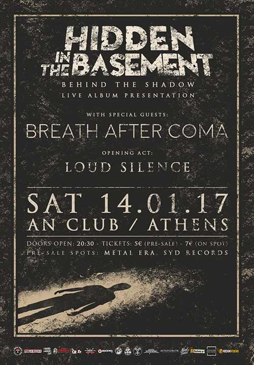Hidden In The Basement, Breath After Coma, Loud Silence Αθήνα @ AN Club