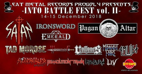 Into Battle Festival: Pagan Altar, Tad Morose, Emerald, Midnight Force, Steamroller Assault, Demolition Train Αθήνα @ Κύτταρο