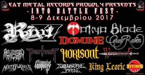 Into Battle Festival: Riot V, Count Raven, Portrait, Wrathblade, Slaughtered Priest, Sons Of Iniquity Αθήνα @ Κύτταρο