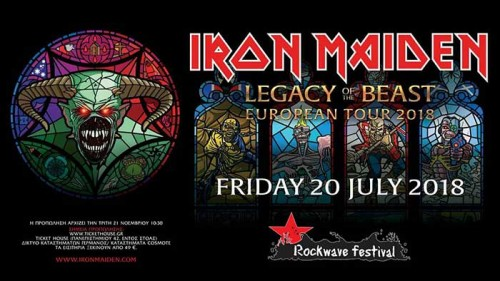 Rockwave Festival: Iron Maiden, Monument, Volbeat, Tremonti, The Raven Age, W.E.B., Rollin' Dice Αθήνα (Μαλακάσα) @ Terra Vibe