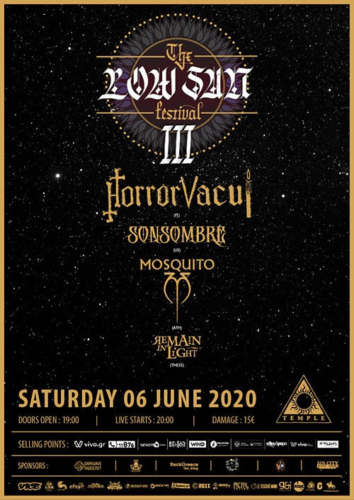 The Low Sun Festival: Horror Vacui, Sonsombre, Mosquito, Remain In Light Αθήνα @ Temple Athens