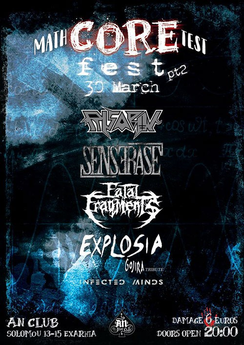 Math-Core Test Fest: Infected Minds, Explosia, Fatal Fragments, Senserase, Risabov Αθήνα @ AN Club