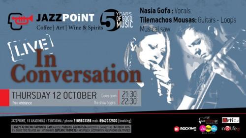 Νάσια Γκόφα, Τηλέμαχος Μούσας Αθήνα @ Jazz Point