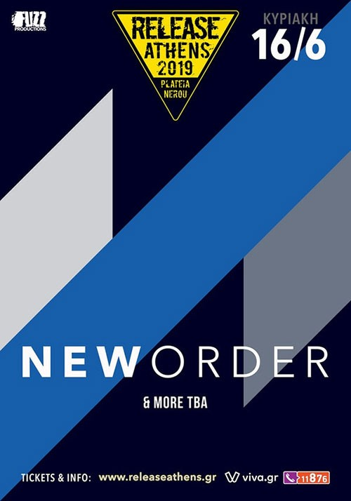 Release Athens Festival: New Order, Johnny Marr, Morcheeba, Fontaines D.C. Αθήνα @ Πλατεία Νερού, Ολυμπιακός Πόλος Φαλήρου
