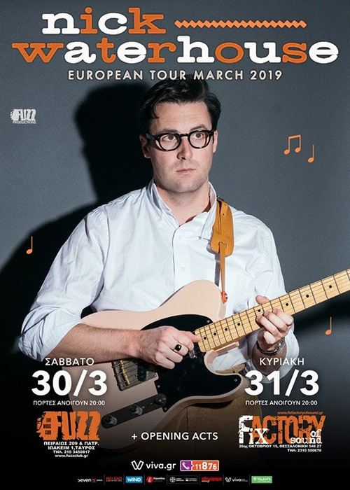 Nick Waterhouse, George Zervos Αθήνα @ Fuzz Club