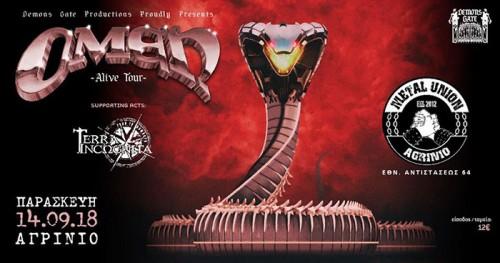 Omen, Terra Incωgnita Αγρίνιο @ Metal Union Club