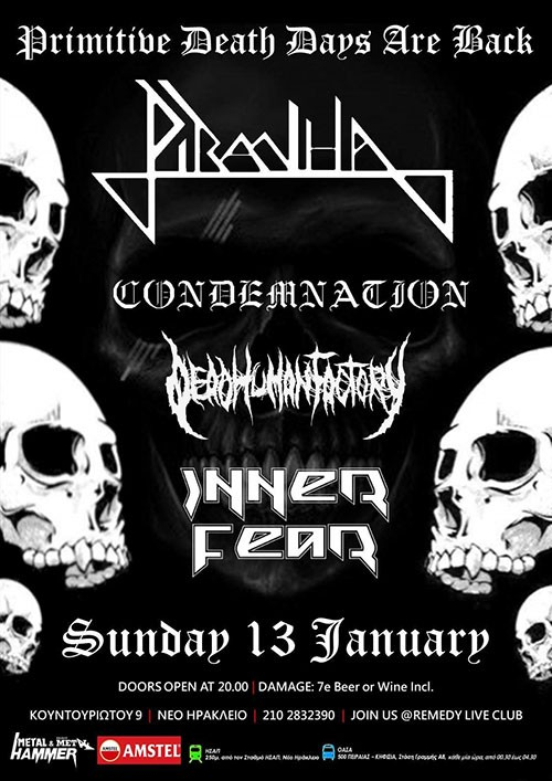 Piranha, Condemnation, Dead Human Factory, Inner Fear Αθήνα @ Remedy