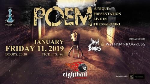 Poem, Jaw Bones, Within Progress Θεσσαλονίκη @ Eightball
