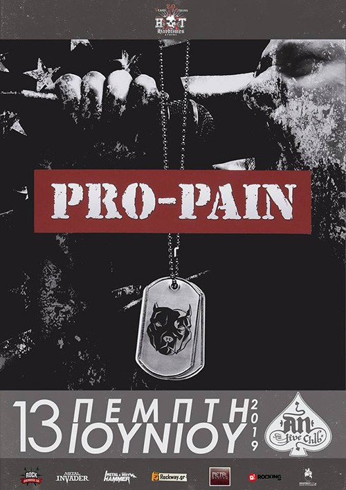 Pro-Pain, The Crucifier, Skybinder Αθήνα @ AN Club