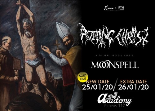 Rotting Christ, Cursed Blood, Abyssus, Death Courier Αθήνα @ Piraeus Academy