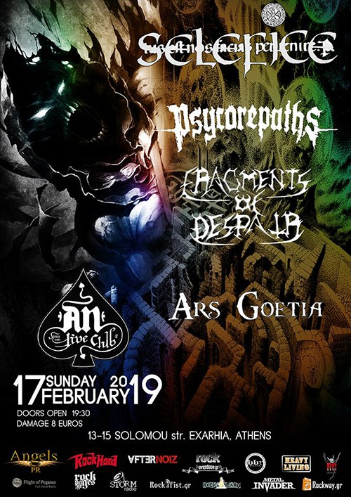 Selefice, Psycorepaths, Fragments Of Despair, Ars Goetia Αθήνα @ AN Club