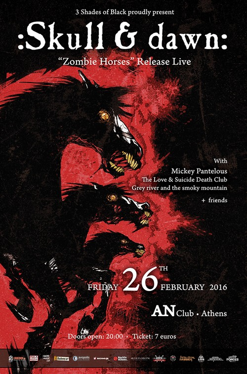 Skull & Dawn, Dr. Albert Flipout's One Can Band, The Love & Suicide Death Club, Grey River & The Smoky Mountain Αθήνα @ AN Club