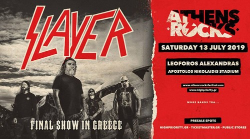 AthensRocks Festival: Slayer, Rotting Christ, Leprous, Suicidal Angels Αθήνα @ Γήπεδο Μπάσκετ Ο.Α.Κ.Α.