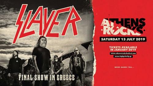 AthensRocks Festival: Slayer Αθήνα @ -