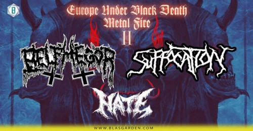 Suffocation, Belphegor, Hate @ Temple Athens