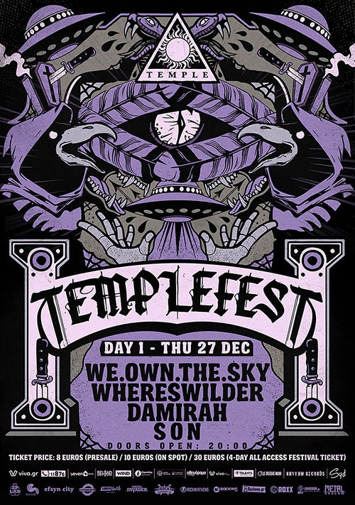 Templefest: we.own.the.sky, Whereswilder, Damirah, Son Αθήνα @ Temple Athens