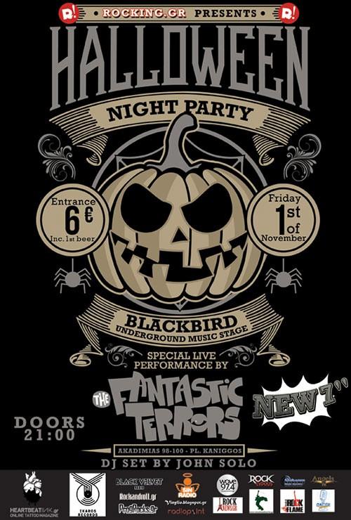 Halloween Night: The Fantastic Terrors Αθήνα @ BUMS (Blackbird Underground Music Stage)