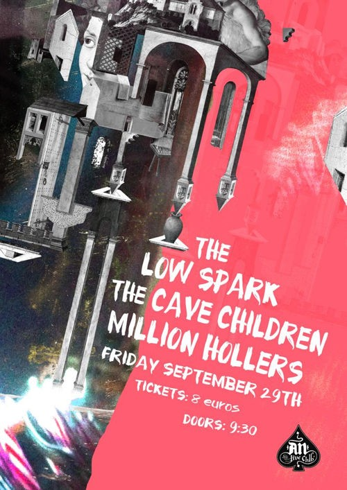 The Cave Children, The Low Spark, Million Hollers Αθήνα @ AN Club