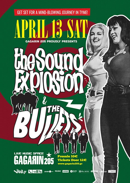 The Sound Explosion, The Bullets Αθήνα @ Gagarin 205