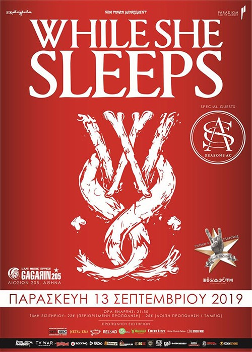 While She Sleeps, Seasons AC Αθήνα @ Gagarin 205